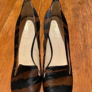 Vince Camuto calf hair and suede wedges